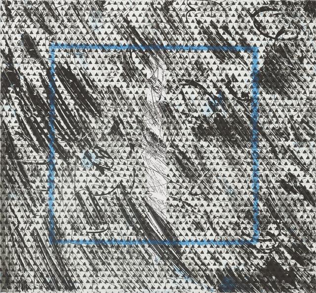 Jacqueline Humphries, '💩 (blue)', 2016, Crown Point Press
