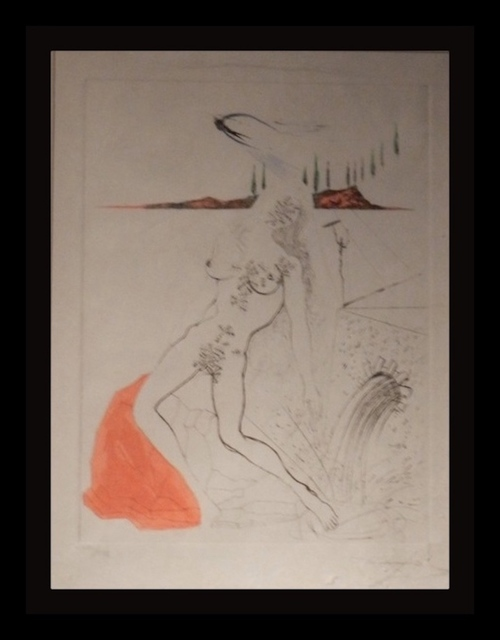 Salvador Dalí, 'Poems Secrets Nude at The Fountain', 1967, Fine Art Acquisitions