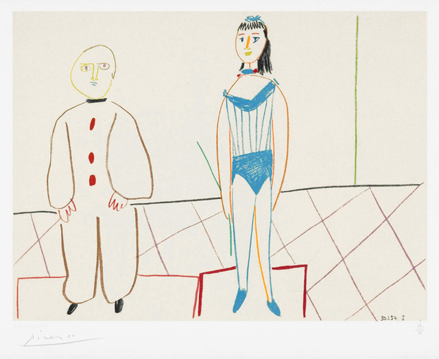 Pablo Picasso, 'Clowne et acrobate (Clown and Acrobat) / One Plate, from Verve Nos 29-30', 1954, Masterworks Fine Art