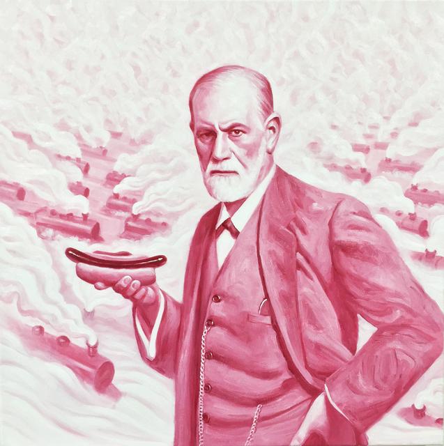 , 'Pink Freud 2,' 2015, SILAS VON MORISSE gallery