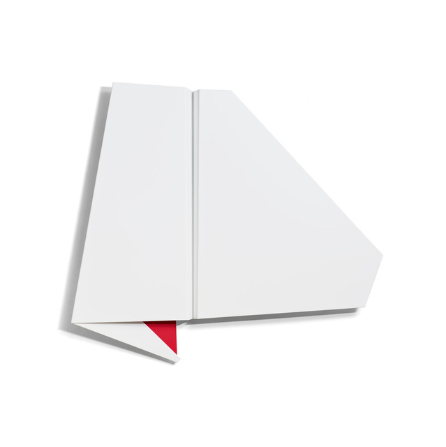 , 'Large White & Red Folded Flat 01,' 2015, Häusler Contemporary
