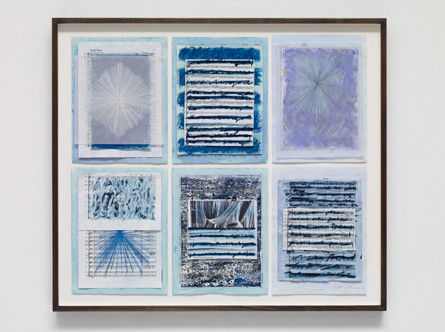 , 'Collage with 6 drawings,' 2019, Victoria Miro