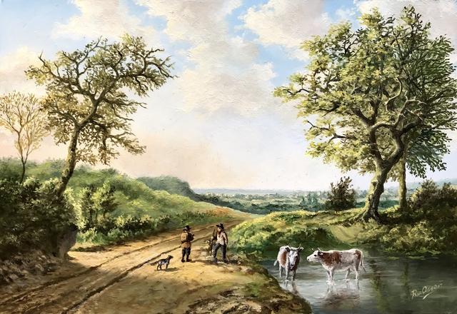 Rob van Assen, 'Summer landscape with shepherds and cows.', 2019, ArtBoutique