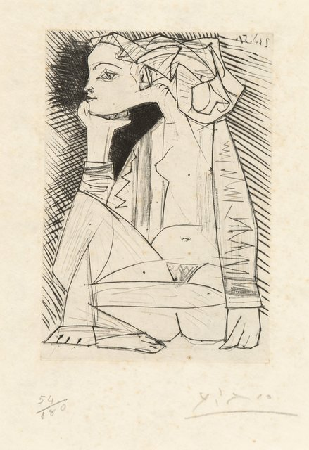 Pablo Picasso, 'Femme assise en tailler: Geneviève Laporte, from Recordant el Doctor Reventós', 1951, Heritage Auctions