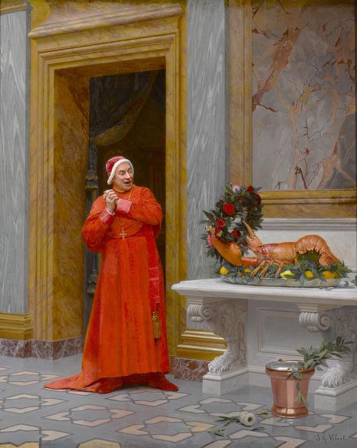 , 'Les Deux Robes Rouges,' 19th century, M.S. Rau