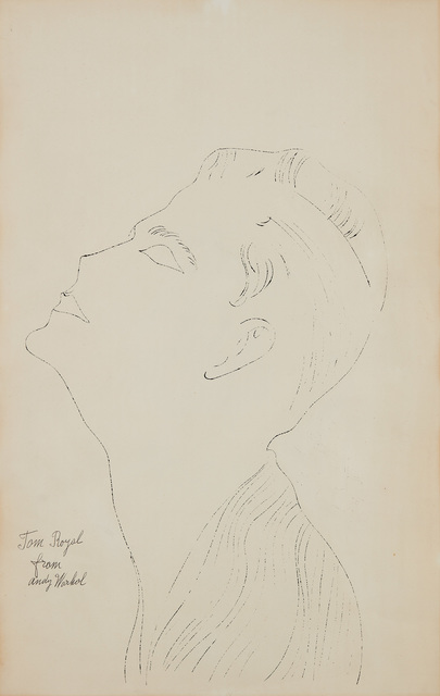 Andy Warhol, 'Tom Royal', ca.1952, Drawing, Collage or other Work on Paper, Ink on paper, Phillips