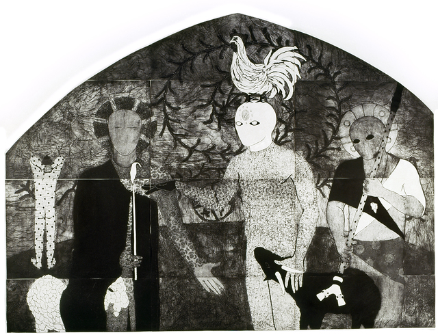 Belkis Ayón, 'La consagración I (The Consecration I)', 1991, Fowler Museum at UCLA