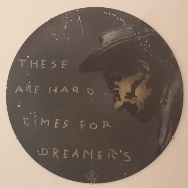 L.E.T., 'These Are Hard Times For Dreamers', 2014, MUCA