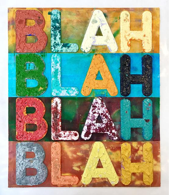 , 'Blah Blah Blah,' 2018, Galerie de Bellefeuille