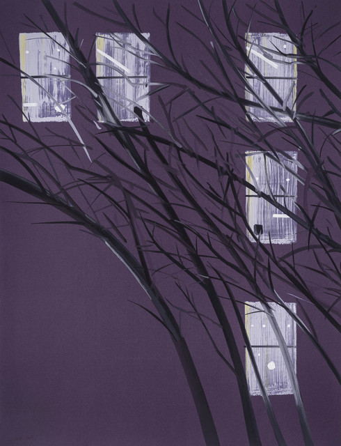 Alex Katz, 'Purple Wind', 2017, Meyerovich Gallery