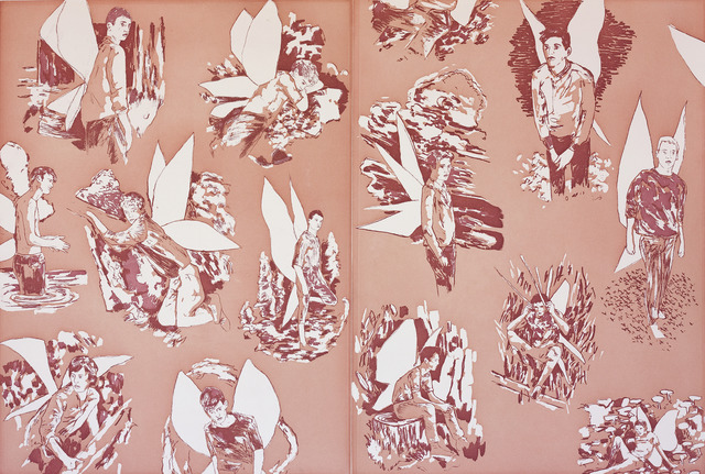 ", 'Revised Endpapers for ""The Homosexual Neurosis"" (pink),' 2013, Paulson Fontaine Press"