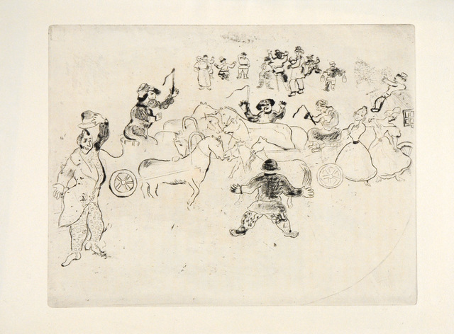 Marc Chagall, 'Collusion en Chemin', 1948, Print, Etching, Goldmark Gallery
