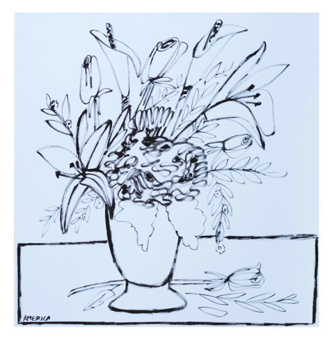 , 'Day Lilies, Mum, Roses and Sage Leaves in vase,' 2019, Wally Workman Gallery