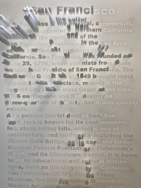 , 'Textscapes (San Francisco),' 2018, re.riddle
