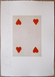 Playing Cards (Four of Hearts)