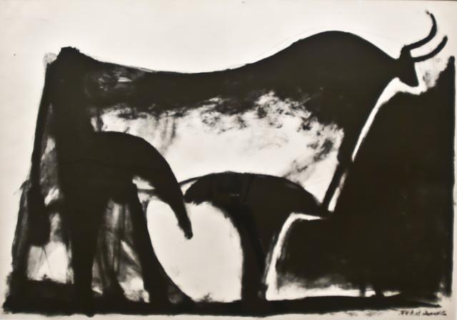 Pablo Picasso, 'Le Taureau noir', 1947, John Szoke