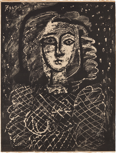 Pablo Picasso, 'Buste au fond étoilé (Bust with Star Spangled Background)', 1949, Phillips
