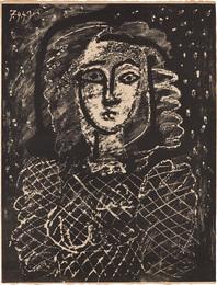 Buste au fond étoilé (Bust with Star Spangled Background)