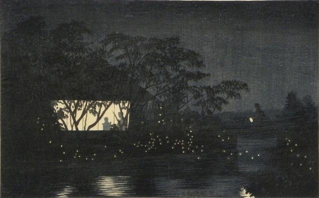 , 'Koromo River Below Tenno-ji Temple,' ca. 1880, Scholten Japanese Art