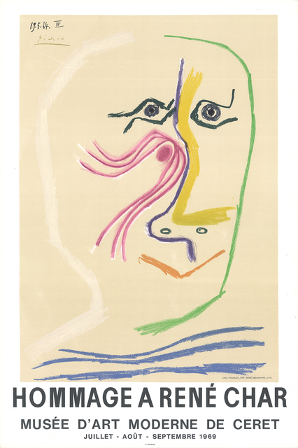Pablo Picasso, 'Hommage A Rene Char', 1969, ArtWise