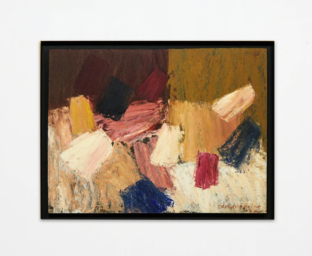 "Nina Tryggvadottir, Abstraction (NT-OL-62-02), 1962, Oil on linen, 18"" x 23.94"""