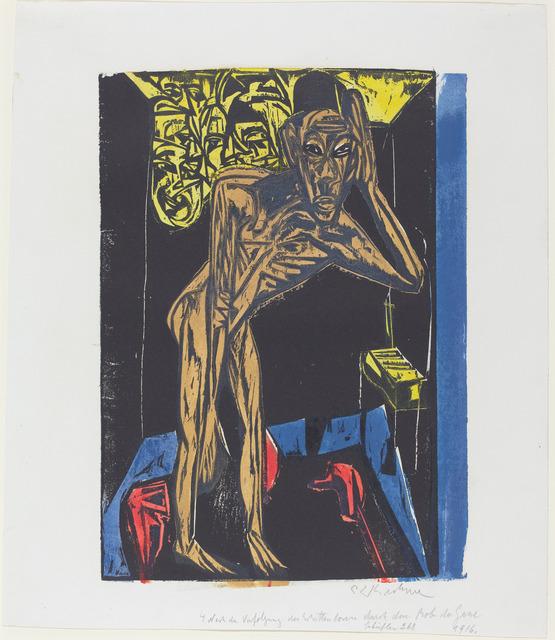 Ernst Ludwig Kirchner, 'Nach der Verfolgung des Schattenlosen durch den Mob der Gasse', 1915, National Gallery of Art, Washington, D.C.