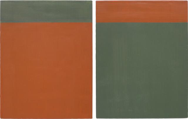 Günther Förg, 'Untitled', 2001, Painting, Acrylic on lead on wood, diptych, Phillips