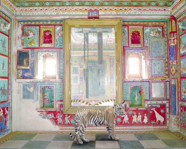 Karen Knorr, 'Durga's Mount, Junha Mahal, Dungarpur', 2012, Sundaram Tagore Gallery