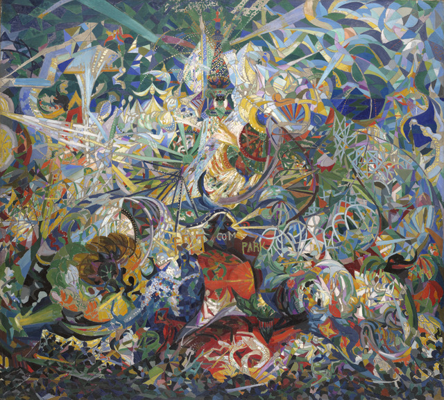 Joseph Stella, 'Battle of Lights, Coney Island, Mardi Gras', 1913-1913, Yale University Art Gallery