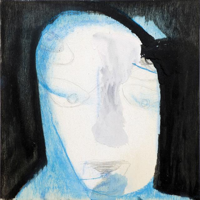 , 'Untitled (black background and blue),' 2010, Monica De Cardenas