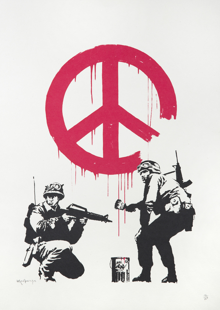 Banksy, 'CND Soldiers (signed)', 2005, Print, Screenprint on paper, Julien's Auctions