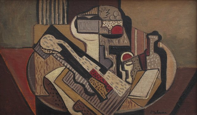, ''Cubist Still Life on Table' by Unknown (c. 1950s),' 1950-1959, Bureau of Interior Affairs