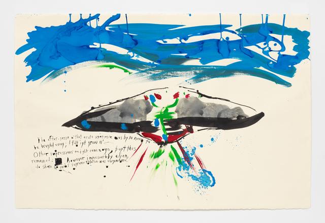 Raymond Pettibon, 'No Title (The after-sense o'...)', 2018, David Zwirner