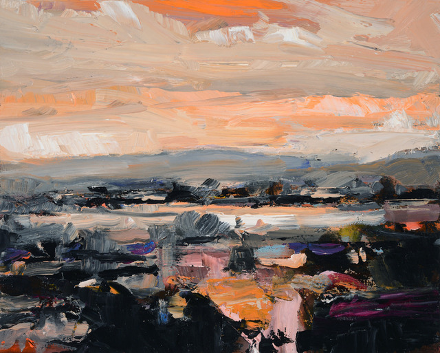 , 'Ontario Landscape with Orange Sky,' 2018, Oeno Gallery