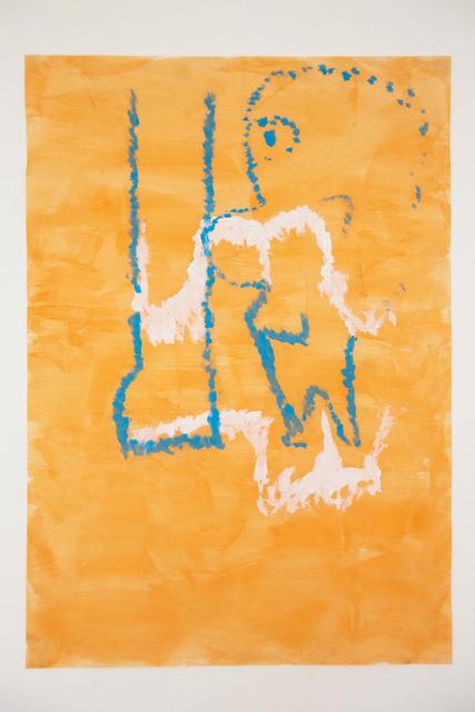 , 'Untitled (Orange),' 2018, MORIA GALERÍA