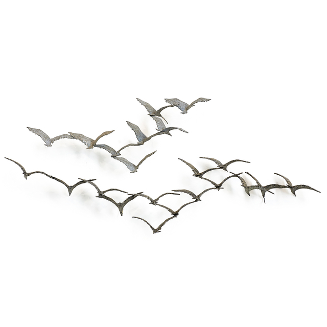 C. Jeré, 'Two-piece wall sculpture depicting birds in flight', 1970s, Rago