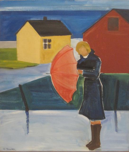 , 'Woman in Reykjavík with Umbrella,' ca. 1980, Tibor de Nagy