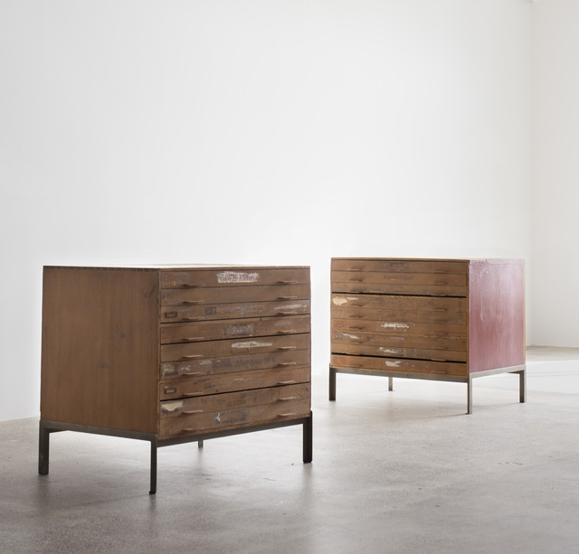 , 'drawing cabinets,' 1955, Galleri Feldt