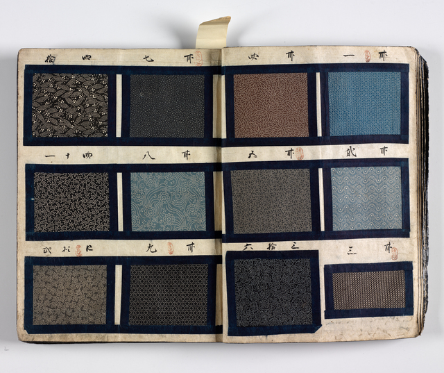 'Dyer's textile pattern book', mid 19th century, RISD Museum
