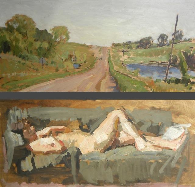 Ben Fenske, 'Road and Nude', 2013, Grenning Gallery