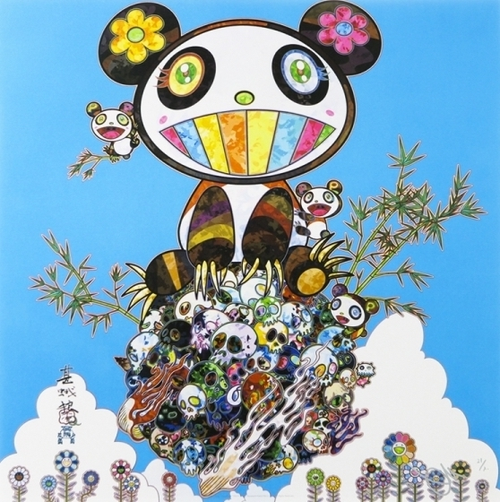 Takashi Murakami, 'Panda Family Happiness', 2016, Print, Offset lithograph, Vogtle Contemporary