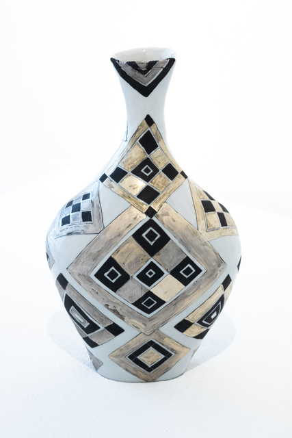 Masako Inoue, 'Geometric Pattern (white gold)', 2019, Micheko Galerie