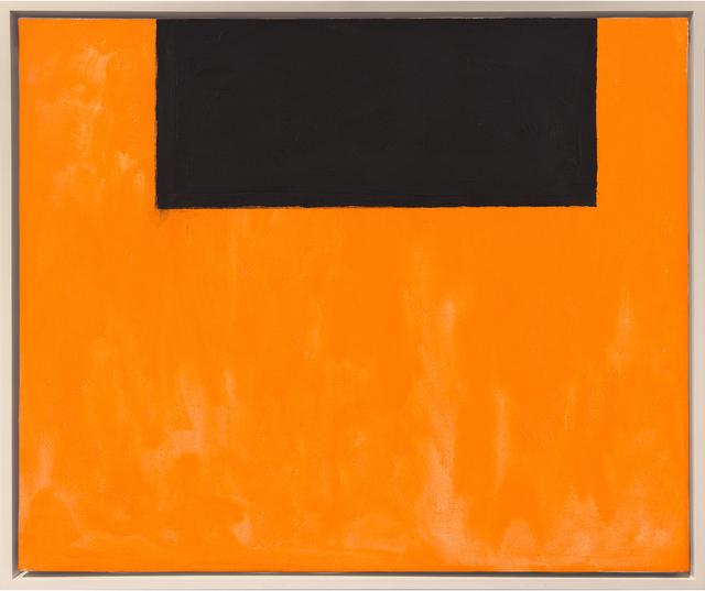 , 'Open No. 51: In Black on Orange,' 1969, Hirschl & Adler