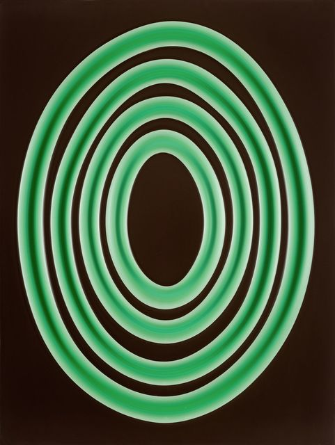 Jeremy Hof, 'Green Rings on Brown', 2016, Painting, Acrylic paint on panel, Monte Clark Gallery