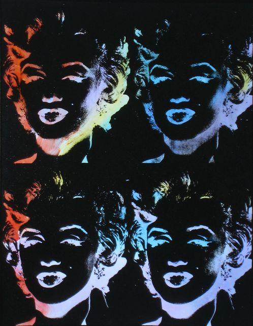 Andy Warhol, 'Four Multicolored Marilyns (Reversal Series)', 1979-1986, Joseph K. Levene Fine Art, Ltd.