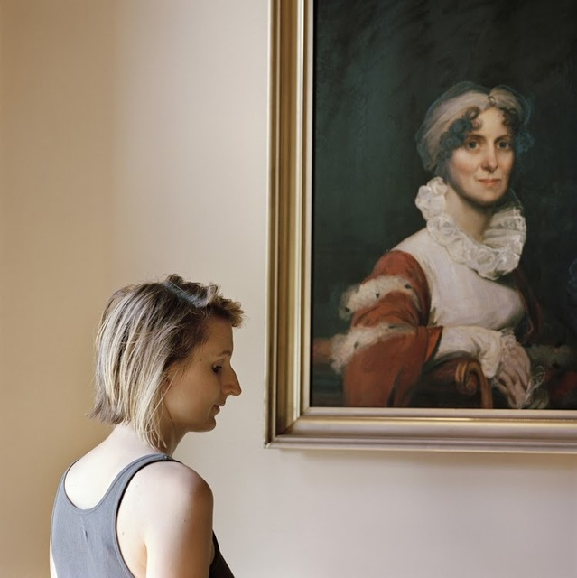 , 'Edith, with a portrait of her ancestor,' 2013, ClampArt