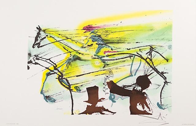 Salvador Dalí, 'Le Cheval de Course (Race Horse)', 1983, Art Lithographies