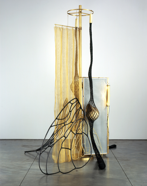 Tunga, 'La Mouche', 2007, Sculpture, Brass, cast aluminum, braided iron wires covered with nylon, epoxy resin, iron canvas galvanized with zinc, Luhring Augustine