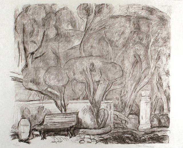 Hans Purrmann, 'Garten in Levanto', 1964, Print, Lithograph, Sylvan Cole Gallery