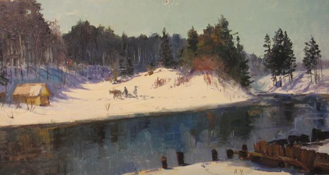 Aleksandr Nikiforovich Chervonenko, 'A winter day', 1957, Surikov Foundation